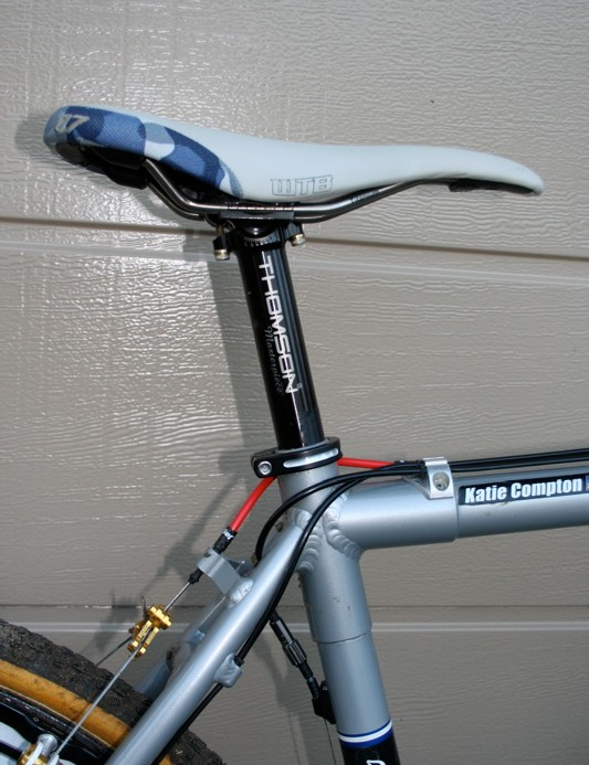 A Thomson Masterpiece seatpost keeps Compton's saddle where it should be