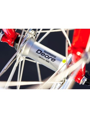Shimano Deore hubs are designed for off road abuse, using cup and cone simplicity