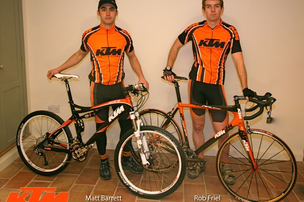 Rob Friel (right) and Matt Barrett (left) will race for KTM in the 2009 season.