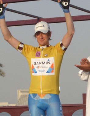 Bradley Wiggins was thrilled to pull on the first race leader's yellow jersey.