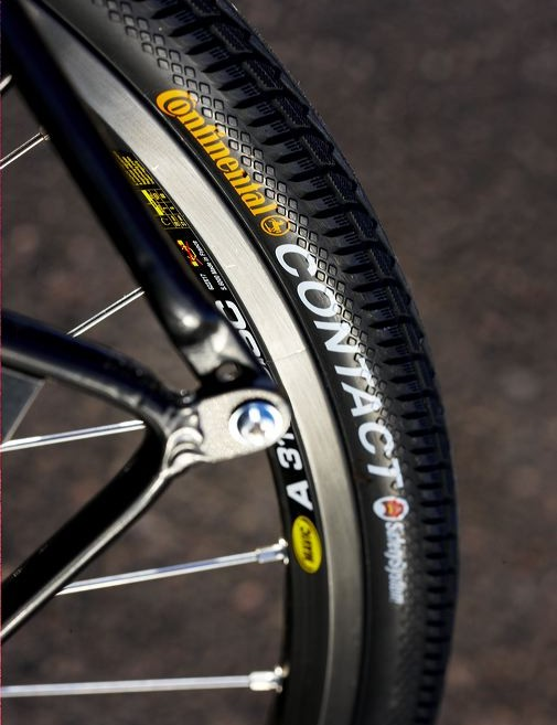 Decent hoops and tyres and without rim-braking the Mavic rims should be very long-lasting too.