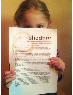 Brant Richards has announced he is launching a new bike brand, Shedfire