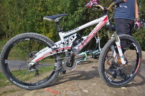 The prototype short travel Marin 4X bike