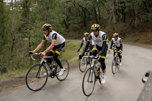 The Trek-Livestrong U23 team spent most of the day climbing a steady pace.