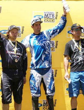 The first five men overall were (from left): Jonty Neethling (fourth), Gary Barnard (third), Andrew Neethling (first), Johann Potgieter (second) and Hayden Brown (fifth).