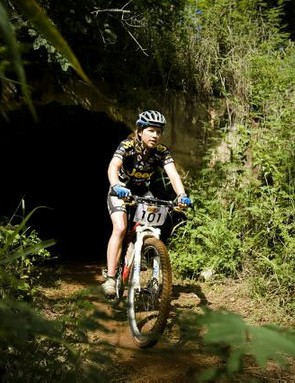 Sara Muhl rode a steady race to claim her second win in the 2009 MTN National Cup Series at Mankele on Saturday