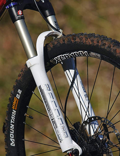 The RockShox Recon fork offers U-Turn travel from 85 to 130mm