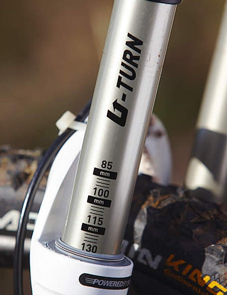 It's not uncommon to leave the RockShox Recon at about 110mm for most trails, but switch to a plusher 130mm for  the really big descents.