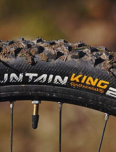 Continental's Mountain King tyres grip and roll well and never block