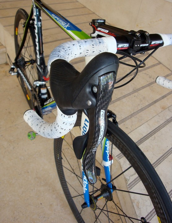 Basso is currently equipped with Campagnolo Record but says he will have Super Record in time for the Giro.