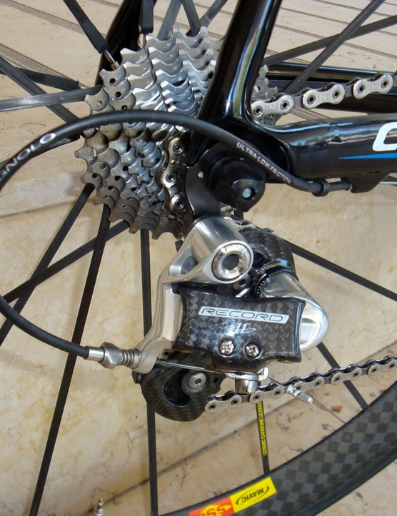 The newly added 11th rear cog provides more range at either end or smaller steps in between depending on the day's needs.