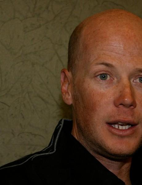 American racer Chris Horner relaxes in Team Astana's Santa Rosa hotel February 4, 2009.