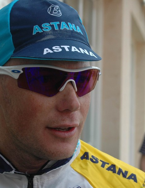 Horner ready to roll out with Armstrong, Leipheimer and his Team Astana Tour of California roster teammates for a 107-mile ride over King's Ridge in Sonoma County.