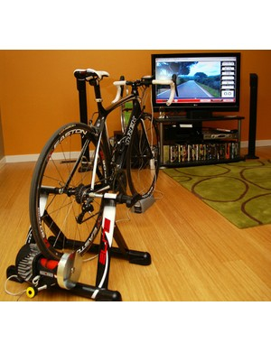The Elite RealPower CT trainer is a good choice for cyclists who normally can't stand riding indoors