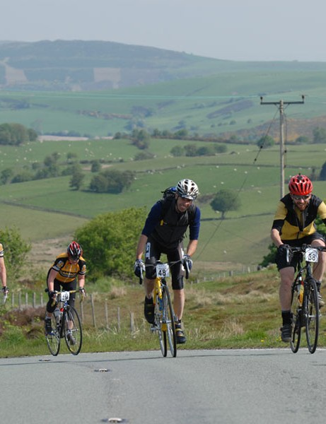 Riders on the Ruthin sportive in 2008