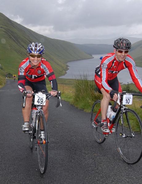 Riders enjoy the scenery in Selkirk
