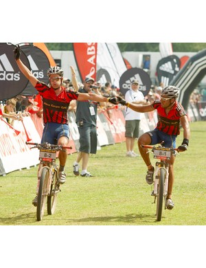 Brandon Stewart and Kevin Evans, pictured in 2007 when they were team-mates on Team MTN Raleigh