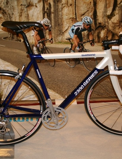 A bike equipped with Shimano's new entry-level road groupset, 2300, was on display