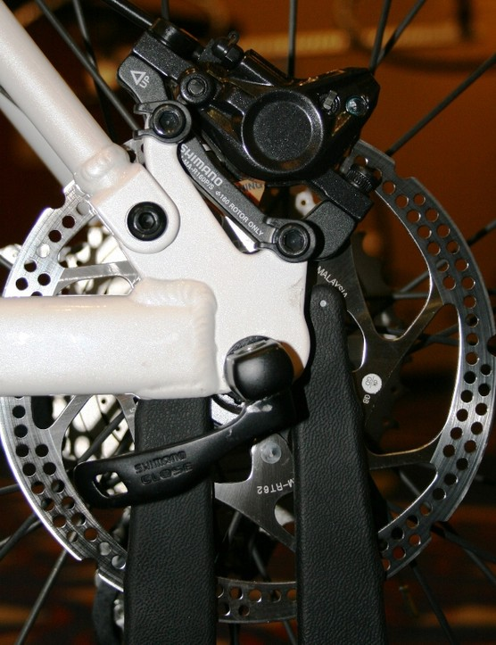 The Deore brake calliper has been redesigned internally to make bleeding quicker and easier