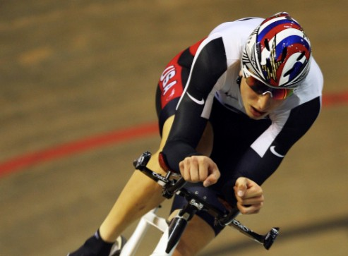 American Taylor Phinney won the Men's Individual Pursuit during day one of the UCI Track World Cup V on February 13, 2009 in Copenhagen, Denmark.