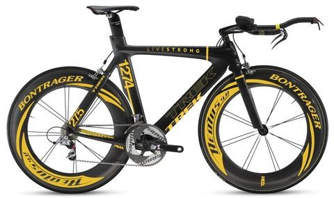 Lance Armstrong's custom Trek Equinox TTX 9.9 time trial bike.