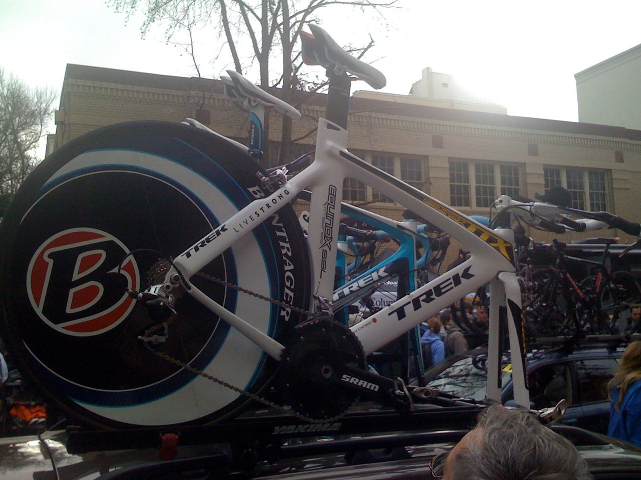 Armstrong's back-up time trial bike. Will he use it in Solvang?