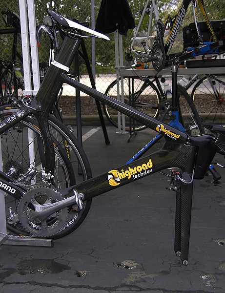 Team Columbia-Highroad is still using similar time trial bikes as last yearand it says more intriguing products are forthcoming from its 'Techdev' division.