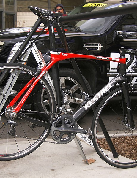 Rock Racing is on the Kestrel RT800 for their road bikes.