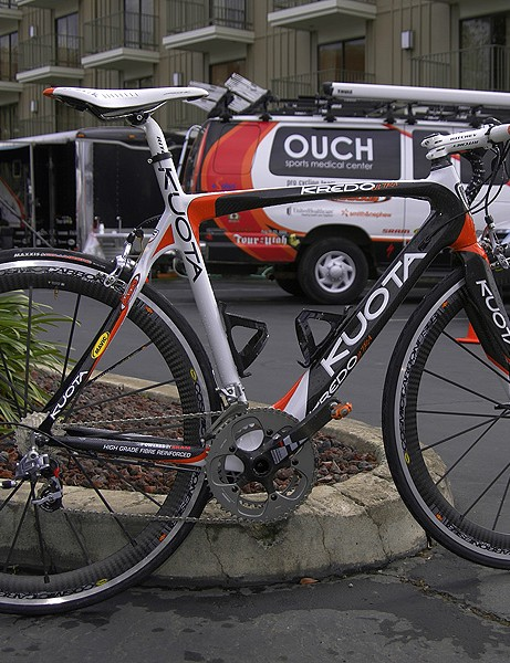 Floyd Landis is making return with the OUCH Pro Cycling Team	and the Kuota Kredo Ultra.