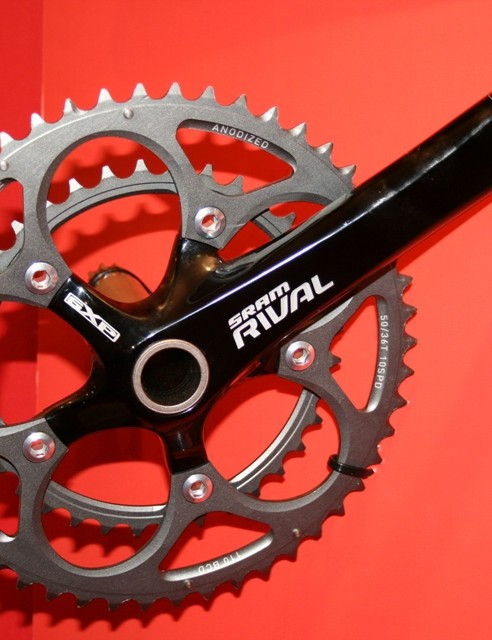 SRAM's Rival road groupset is now black - it was silver last year