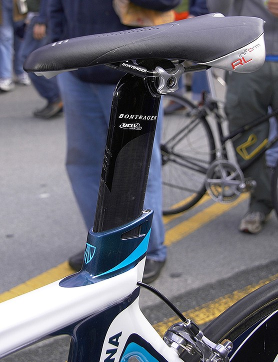 And what about other parts such as aero seatposts? If the rule is rigidly interpreted, some posts would be illegal as well.  This Bontrager post luckily falls within the guidelines though.