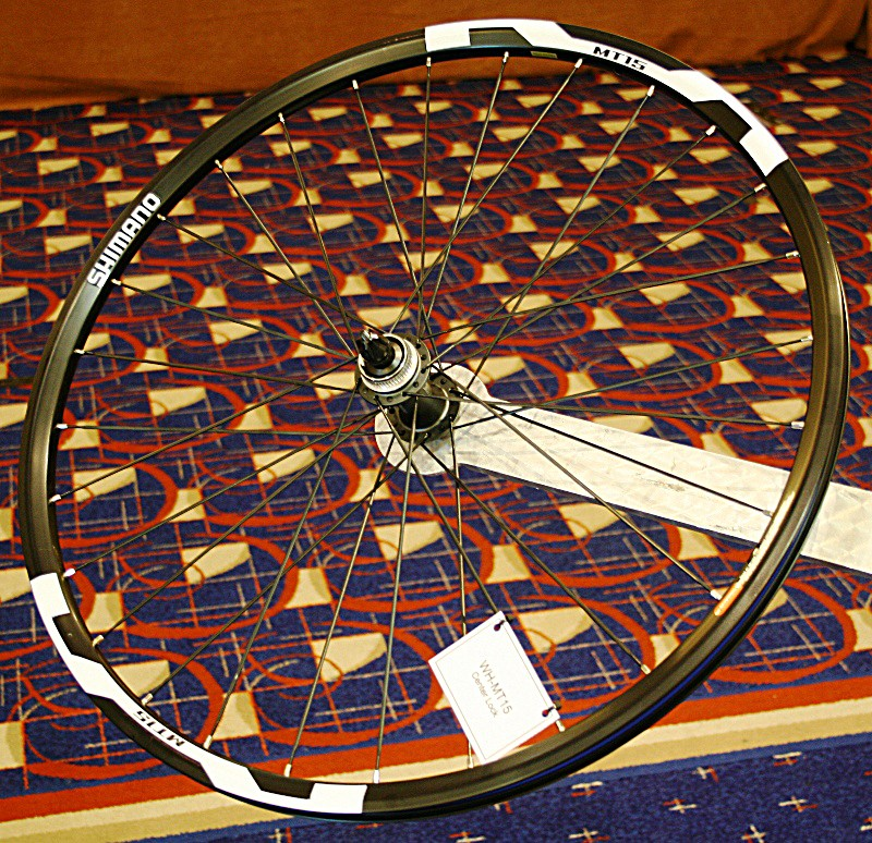 The WH-MT15 is Center Lock-only and has 29 bladed, stainless steel spokes per wheel