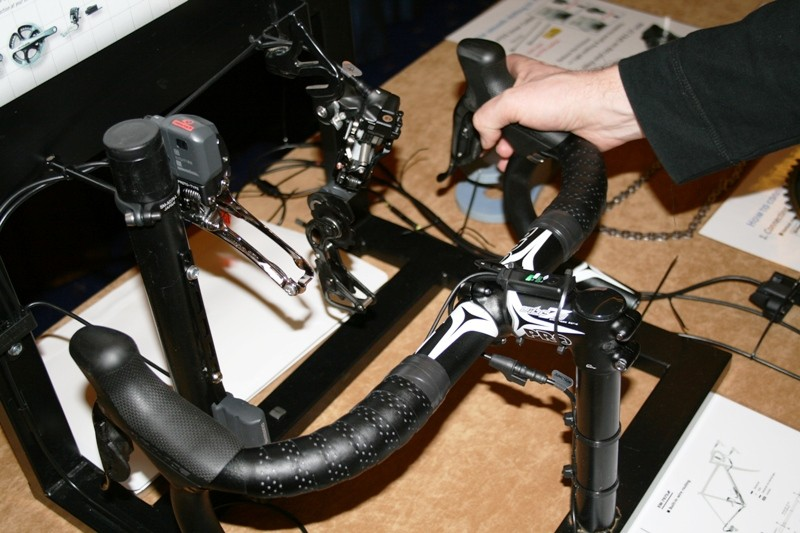 Di2 electronic shifting in action