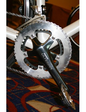 Prototype Ultegra chainset and front mech