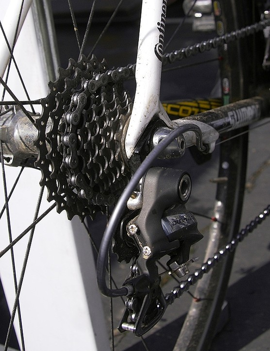 Team bikes are also fitted with thicker and stiffer derailleur hangersfor more robust shifting performance.