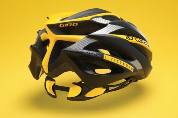 The $230 2009 Giro Livestrong Ionos helmet.