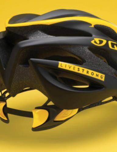 The $120 2009 Giro Livestrong Saros helmet.