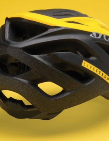 The $55 2009 Giro Livestrong Rift helmet.