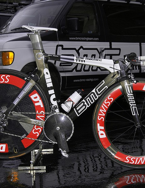 Pro veteran Alexandre Moos will ride the time trials in the 2009 Tour of California aboard BMC's flagship TT01 Time Machine.