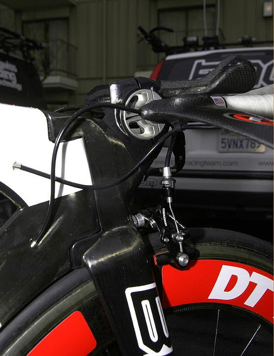 One of the frame's most distinctive features is the 'living hinge' front end which BMC says makes for a faster front end.