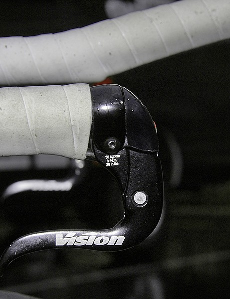 Vision brake levers offer a narrow profile to the oncoming air.