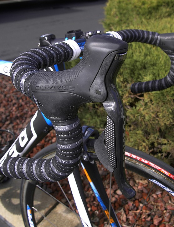 Vande Velde and five other Garmin-Slipstream riders have their choice of standard Dura-Ace or Shimano's new Dura-Ace Di2 electronic group during this year's Tour of California.