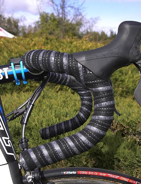 Vande Velde prefers a standard handlebar bend.