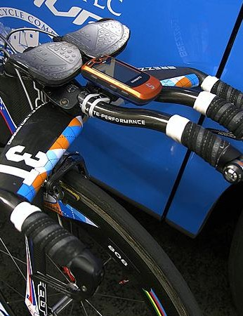 Garmin's time trial specialist and three-time national TT champ Dave Zabriskie wouldn't be allowed to use this set-up if the new UCI rules go into effect now.