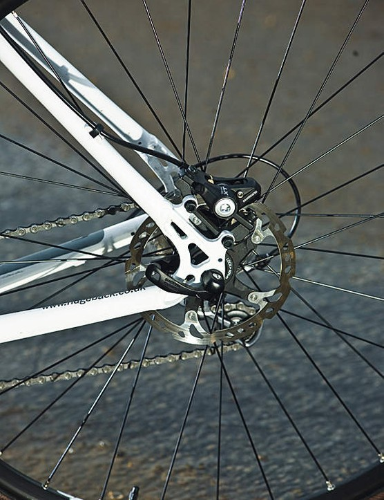 The Ultegra double chainset adds a sportive element