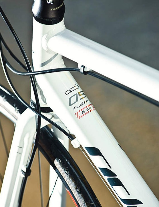 Triple-butted alu frame plus the carbon fork