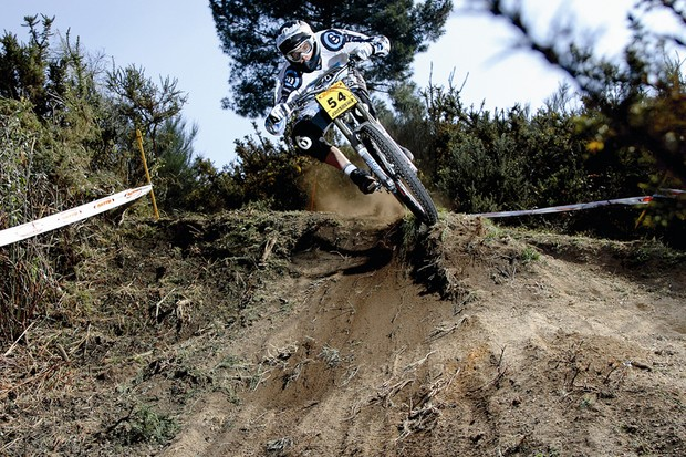 Dan Atherton won the first round of the USA Cycling Mountain Bike National Gravity Calendar