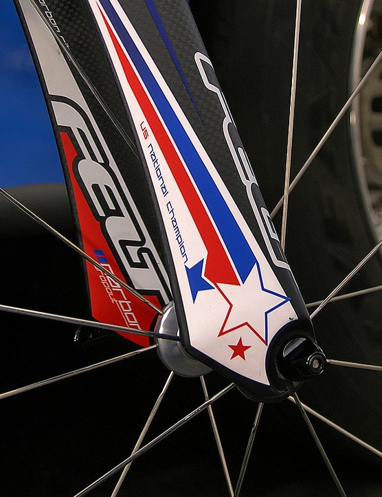 Lengthy trailing edges behind the fork tips apparently smooth out airflow.