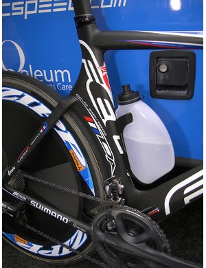 The rear wheel is shielded all the way from the bottom bracket to the seat stays, which are smoothly joined up top.