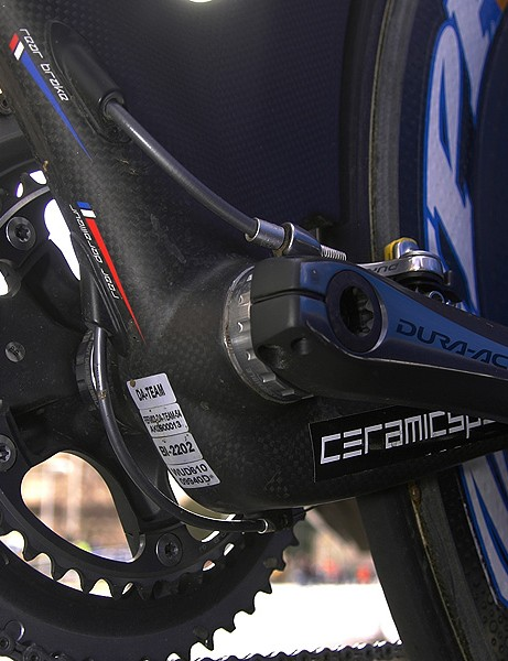 The dropped chain stays effectively allow for a longer down tube which provides further rear wheel shielding.